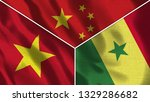 china and senegal and vietnam... | Shutterstock . vector #1329286682
