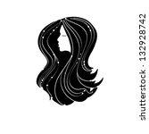 silhouette of girl | Shutterstock .eps vector #132928742