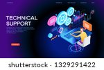 technical support illustration...   Shutterstock .eps vector #1329291422