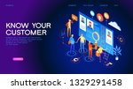 know your customer concept.... | Shutterstock .eps vector #1329291458