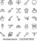 thin line icon set   job vector ... | Shutterstock .eps vector #1329307835