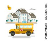 primary or high school exterior ...   Shutterstock .eps vector #1329308408