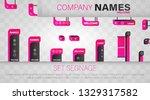 set signage. a set of... | Shutterstock .eps vector #1329317582