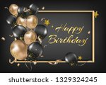 happy birthday greeting card.... | Shutterstock .eps vector #1329324245