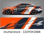 sport car racing wrap design.... | Shutterstock .eps vector #1329341888
