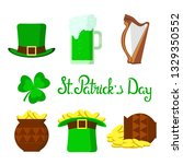 st. patrick's day  set of... | Shutterstock .eps vector #1329350552