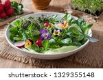 Spring Salad With Edible...