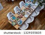 restaurant banquet table        ...   Shutterstock . vector #1329355835