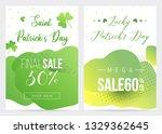two saint patricks day big sale ...   Shutterstock .eps vector #1329362645