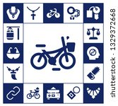 chain icon set. 17 filled chain ... | Shutterstock .eps vector #1329372668