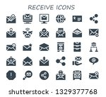 receive icon set. 30 filled... | Shutterstock .eps vector #1329377768