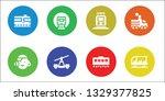 tram icon set. 8 filled tram... | Shutterstock .eps vector #1329377825