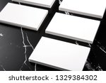 photo of white business cards... | Shutterstock . vector #1329384302