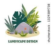 landscape design composition...   Shutterstock .eps vector #1329389738