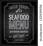 Seafood Poster   Chalkboard....