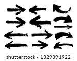 set of hand drawn arrows.... | Shutterstock .eps vector #1329391922