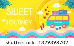 sweet journey. vacation and... | Shutterstock .eps vector #1329398702