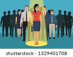chosing person for hiring.... | Shutterstock .eps vector #1329401708