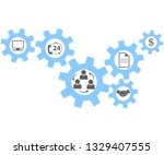 agreement with customers.... | Shutterstock .eps vector #1329407555