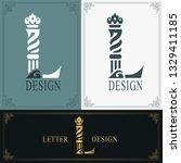 elegant letter l. graceful...   Shutterstock .eps vector #1329411185