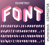 3d isometric vector font.... | Shutterstock .eps vector #1329412718