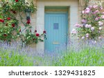 Bright Blue Wooden Doors In An...