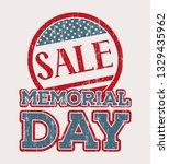 memorial day sale shopping... | Shutterstock .eps vector #1329435962