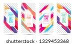 vector illustration. stylish... | Shutterstock .eps vector #1329453368