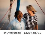 couple looking at each other... | Shutterstock . vector #1329458732