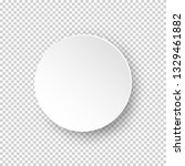 vector white realistic round... | Shutterstock .eps vector #1329461882
