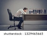 boss selects suitable... | Shutterstock . vector #1329465665