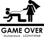 funny wedding couple   game... | Shutterstock .eps vector #1329474968