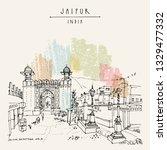 jaipur  rajasthan  india. galta ...   Shutterstock .eps vector #1329477332