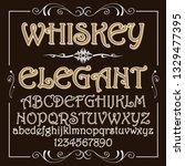 whiskey elegant   handcrafted... | Shutterstock .eps vector #1329477395