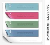 paper design template for... | Shutterstock .eps vector #132947792