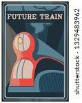 Art Deco Dreyfuss Train Poster...
