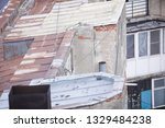 rusty metal roof on a neglected ...   Shutterstock . vector #1329484238