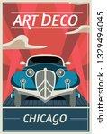 Retro Poster In Art Deco Style...