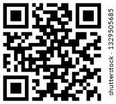 sample qr code icon | Shutterstock .eps vector #1329505685