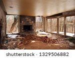 interior of an abandoned and...   Shutterstock . vector #1329506882
