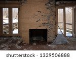 interior of an abandoned and...   Shutterstock . vector #1329506888