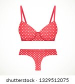 red bra and thong panties in a... | Shutterstock .eps vector #1329512075