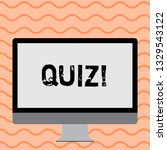 writing note showing quiz.... | Shutterstock . vector #1329543122