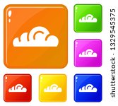 app cloud icons set collection...