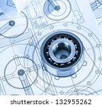 technical drawings with the... | Shutterstock . vector #132955262