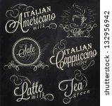 names of coffee drinks espresso ... | Shutterstock .eps vector #132956942