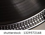 close up view of a vinyl record ... | Shutterstock . vector #1329572168