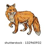 fox   Shutterstock .eps vector #132960932