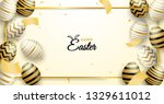 happy easter celebration.... | Shutterstock .eps vector #1329611012