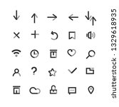set of user interface icons